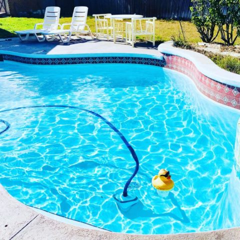 💎Crystal blue pool ✔️Automatic vacuum ✔️Cool duck chlorinator ✔️😎